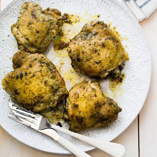 Pesto Baked Chicken Thighs