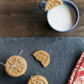 ALMOND BUTTER COOKIES (about 36 cookies).