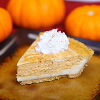 Cheesecake Pumpkin Swirl Pie.