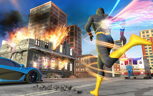 Real Speed Robot Hero Rescue Games screenshot 5