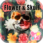 Cool Theme-Flower Skull-