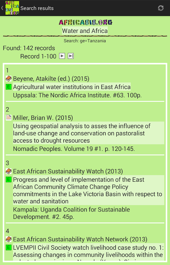 AfricaBib App- screenshot