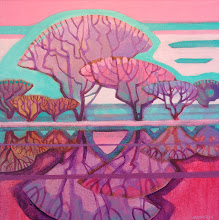 "Photo: ""Ode to Joy"", acrylic on canvas, 12"" x 12"", by Nancy Roberts, copyright 2015."