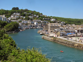 Photo: Looe is larger than Polperro ...