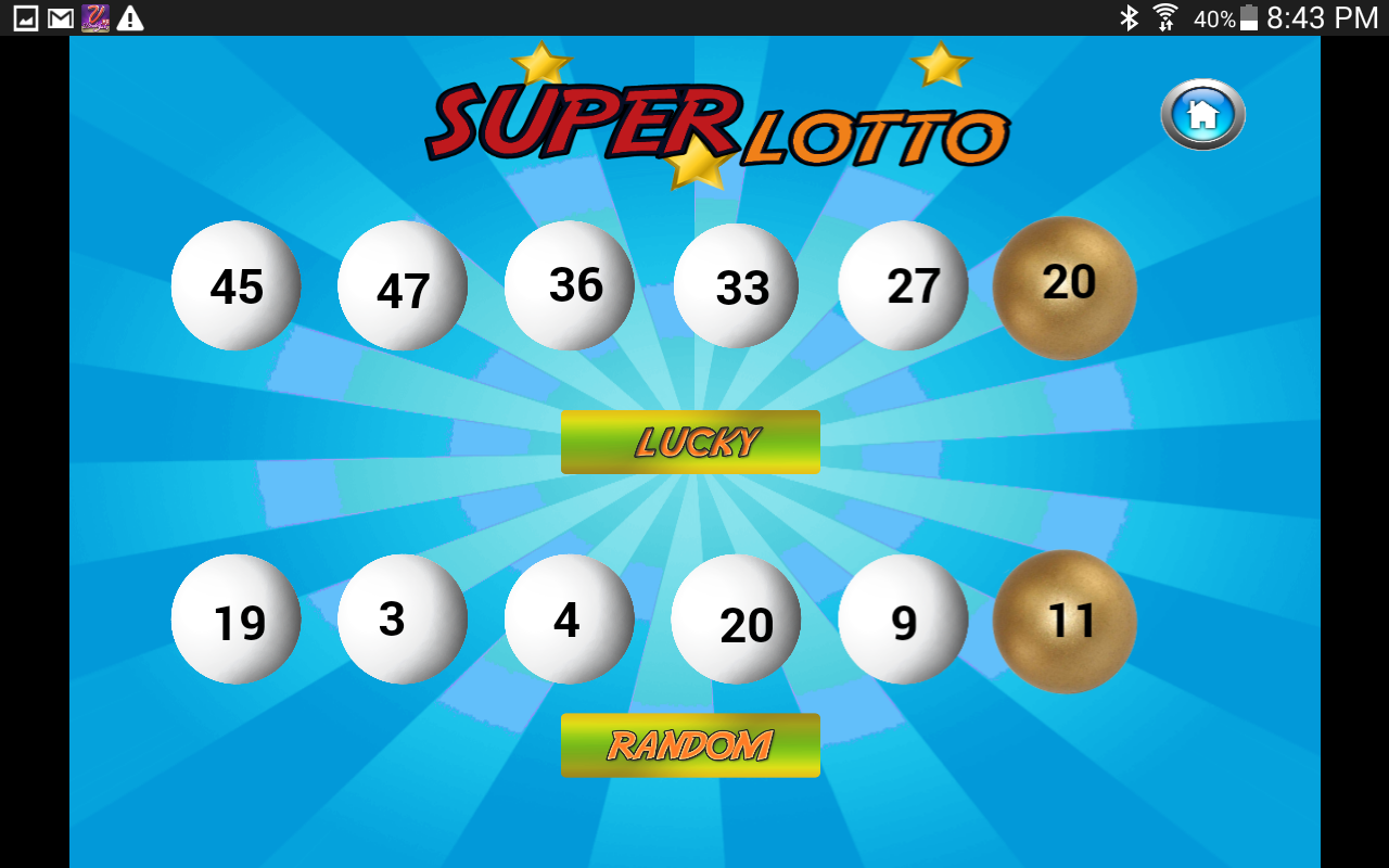 lucky lotto numbers generator