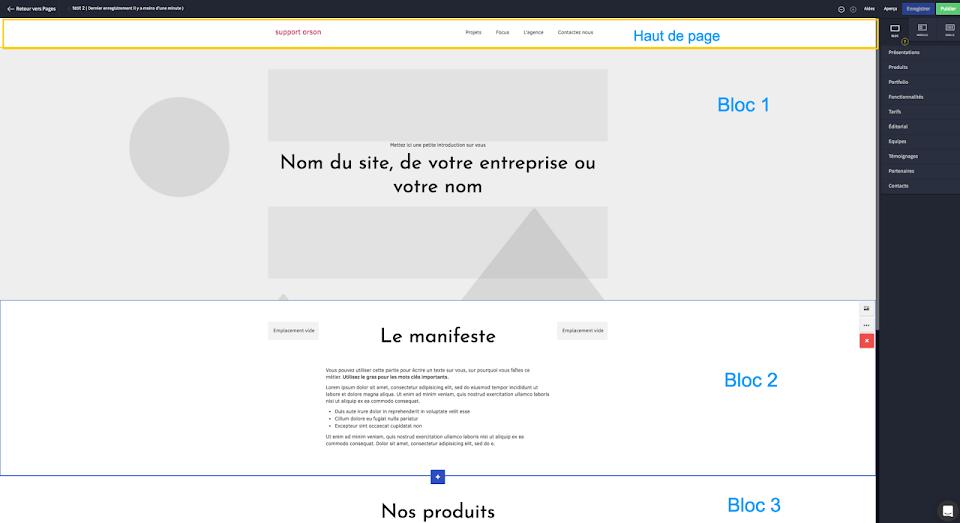 Structure d'une page web : les blocs