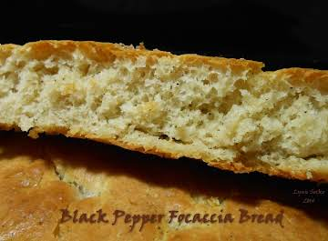 Black Pepper Focaccia Bread