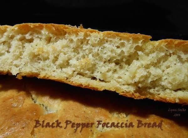 Black Pepper Focaccia Bread
