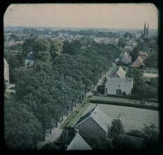 Photo: 1921 luchtfoto van Princenhage vanaf de Molen kijkend naar de kerk zonder toren.
