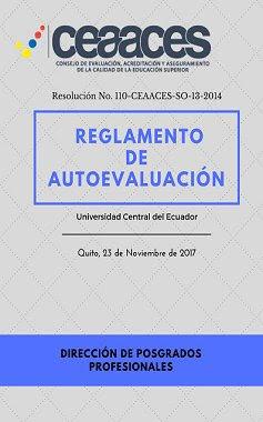 Reglamento de Autoevaluación Programas de Posgrado