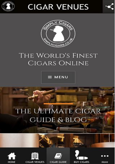 CigarVenues- screenshot