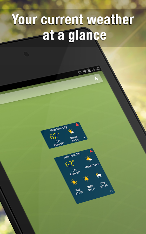 WeatherBug Widget- screenshot