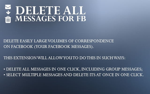 Delete all messages for fb chrome web store message cleaner delete messages in one click ccuart Image collections