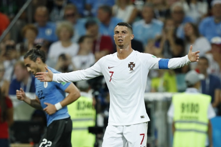 Cristiano Ronaldo of Portugal during the 2018 FIFA World Cup Russia round of 16 match between Uruguay and at the Fisht Stadium on June 30, 2018 in Sochi, Russia.