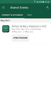 William & Mary Alumni Events- screenshot thumbnail