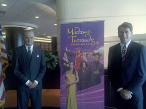 Photo: Wax presidents in the lobby of the Washington Hilton