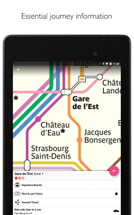 Paris Metro – map, route planner and train times- screenshot