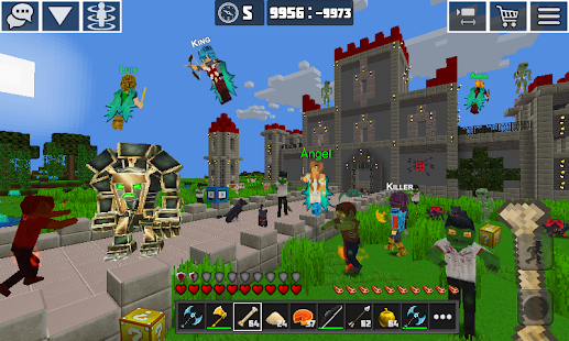 Planet Craft: Block Survival Craft Games Online Screenshot