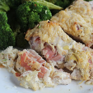 Lemon Pepper & Asiago Stuffed Chicken.