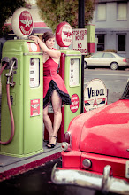 Photo: Hot Tam  A couple years ago a swarm of photographers came to Portland and we had a blast. One of the things we did was a shoot at a restored gas station in SE Portland. +Kelly-Shane Fullerbrought his old car and a ton of camera gear. A few of the ladies in the group brought their sexy and let us shoot them. Here's a shot I got of+Tamara Pruessnerin her hot little dress she brought just for the occasion.
