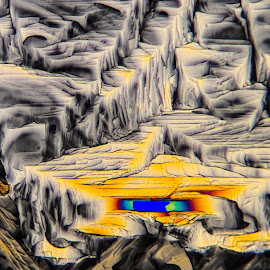 Mountain Oasis by Scott Taft - Abstract Patterns ( abstracts, microscopic crystals, microscopy, abstract, abstract photography )