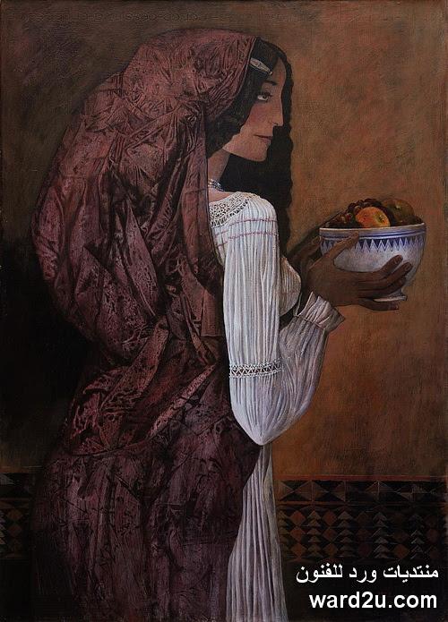 لوحات الفنان السورى نذير نبعة