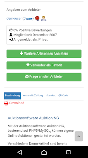 Auktion:NG online Auktion – Miniaturansicht des Screenshots