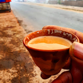 Morning Tea by Rajat Sen - Food & Drink Alcohol & Drinks ( highway, india, tea )