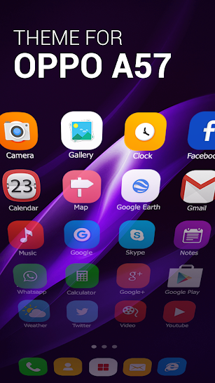 Theme for Oppo A57, Smart wallpaper, Cool Launcher screenshot for Android