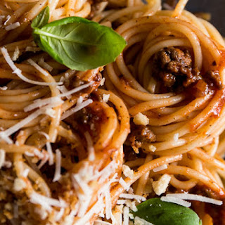 Quick Slow Cooked Spaghetti Bolognese