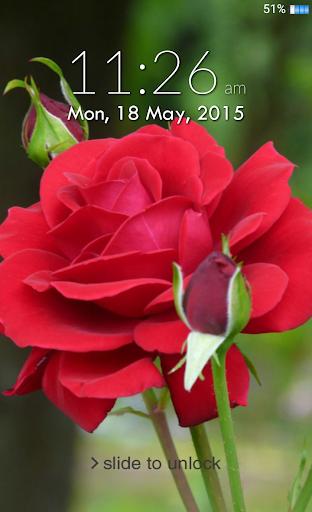 Rose Lock Screen - Iphone Lock