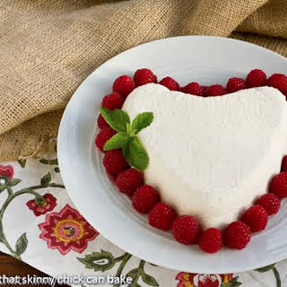Coeur a la Creme with Raspberry Sauce.