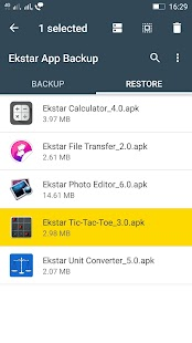 Ekstar App Backup & Restore Screenshot