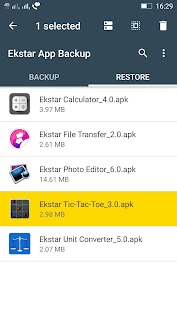 (APK) تحميل لالروبوت / PC Ekstar App Backup & Restore تطبيقات screenshot