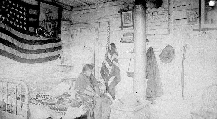 Photo: Snow On Her (the wife of Sitting Bul)l at Ft. Yates, North Dakota - Hunkpapa - no date