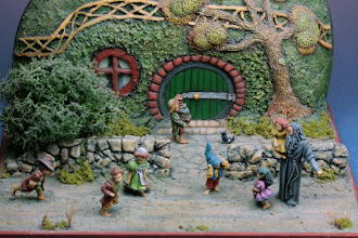 "Photo: ""Gandalf et les hobbits"" (Mithril) 28 mm"