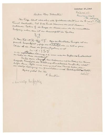 Albert Einstein's Handwritten Letter Sold for US$1.2 Million