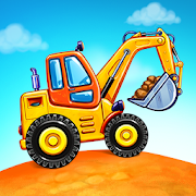 Truck games for kids - build a house \ud83c\udfe1 car wash