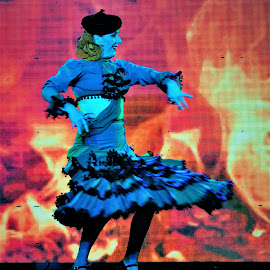 Flamenco by Tomasz Budziak - People Musicians & Entertainers ( dancer, spain, entertainer, people )