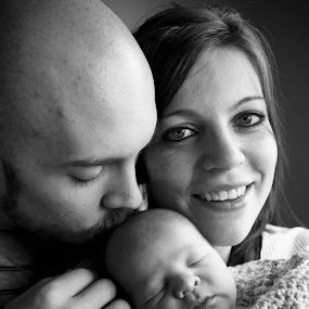 Proud Mama by Brittany Humphrey - People Family ( babies, birth, family, infant, people, newborn )