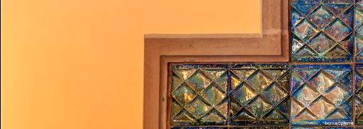 autel de l'église de sainte barbe en grès flammés de rambervillers