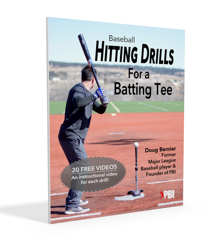 Major League baseball player shares baseball hitting drills for a batting tee
