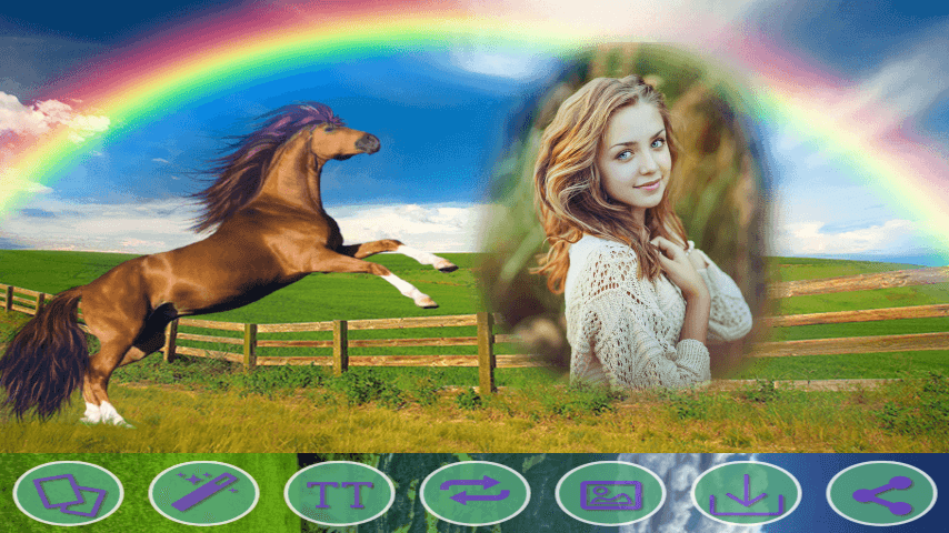 android Rainbow HD Photo Frames Screenshot 0