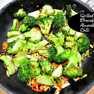 Grilled Broccoli with Almonds, Lemon & Chilli Recipe