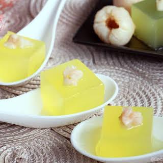 Lychee-tini Jelly Shots.