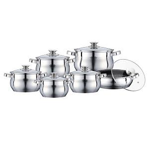 Set oale inox cu capac din sticla termorezistenta, Peterhof PH-15773