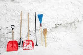 A picture containing snow, tool, shovel, outdoor Description automatically generated