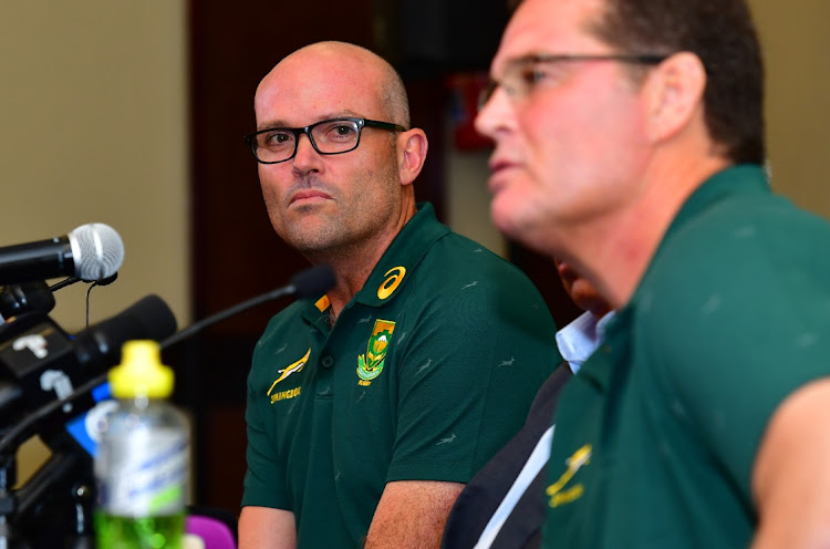 Newly appointed head coach Jacques Nienaber during the Springbok coaching staff announcement media conference at Southern Sun Pretoria on January 24, 2020 in Pretoria, South Africa.Picture: JOHAN RYNNERS/GALLO IMAGES