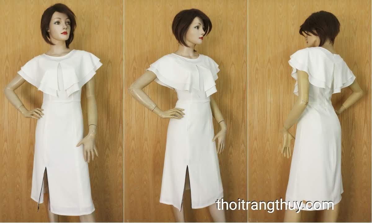 Váy liền chữ A phối bèo cánh tiên nữ tính V644 Thời Trang Thủy