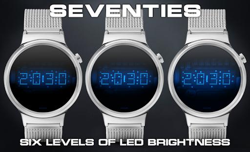 Download LED watch face   Vintage   Seventies Sapphire MOD APK 2